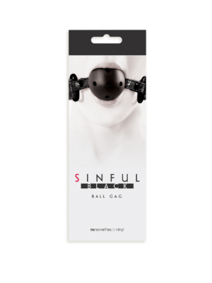 Sinful Ball Gag Black