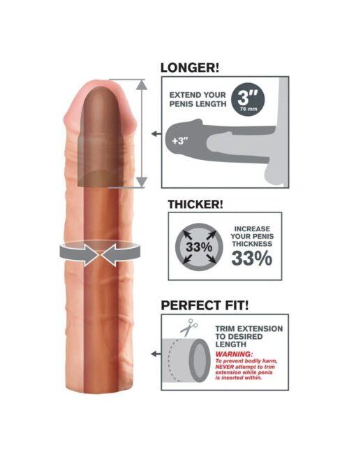 Perfect 3'' Extension - navlaka za penis