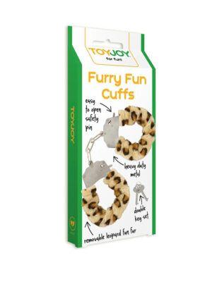 Furry Fun Cuffs Leopard - metalno-krznene lisice