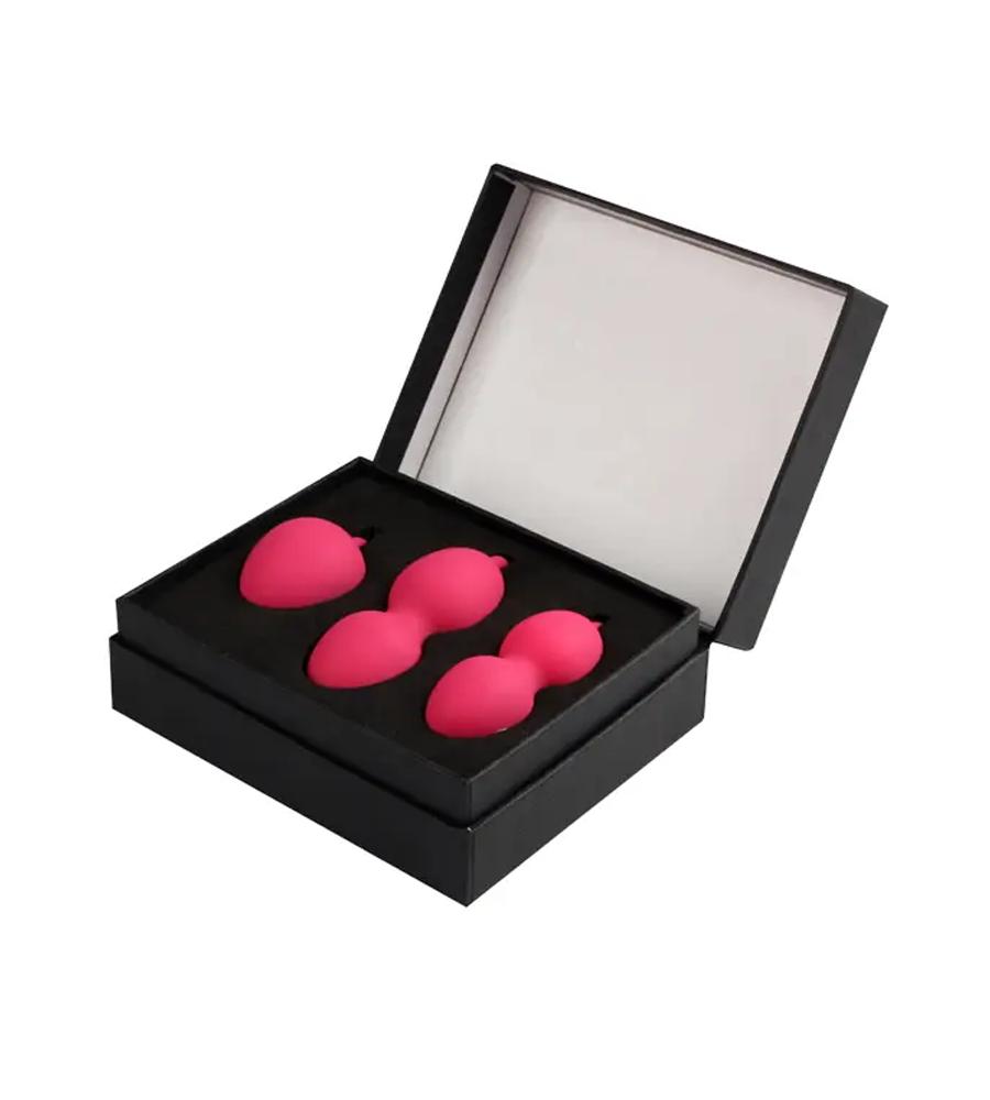 Svakom Nova Kegel Balls Plum Red - 3 kegelove kuglice