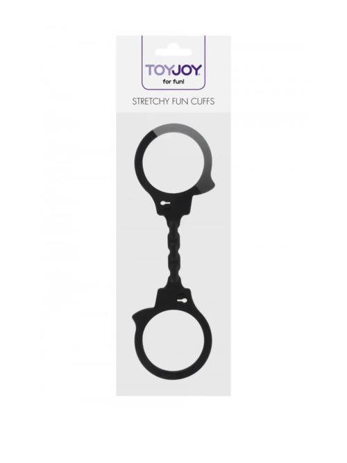 Stretchy Fun Handcuffs - crne silikonske lisice