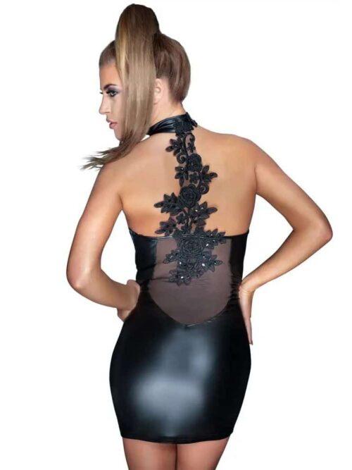 Noir Handmade Wetlook - Mini haljina