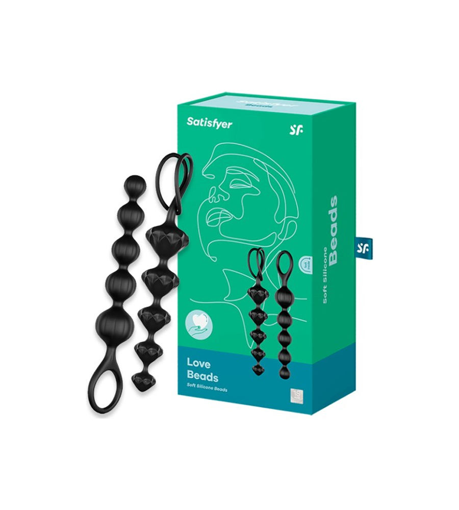 Satisfyer Beads - set analnih kuglica, 20,5 i 27,5 cm