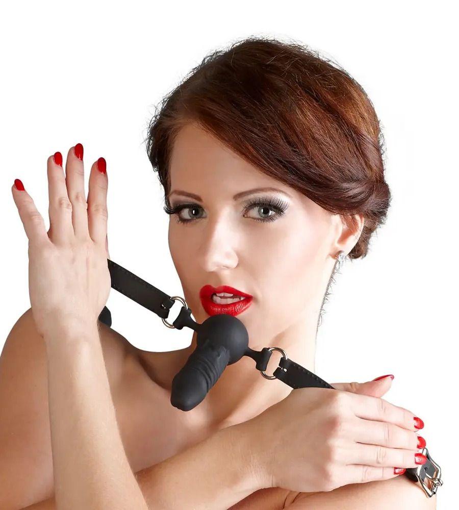 Bad Kitty Silikon-Knebel - Kuglica za usta u obliku penisa