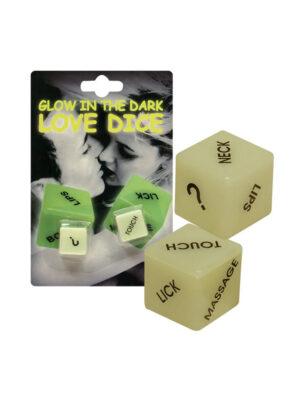 """Dice """"Glow-in-the-dark"""" - ljubavne kockice"""