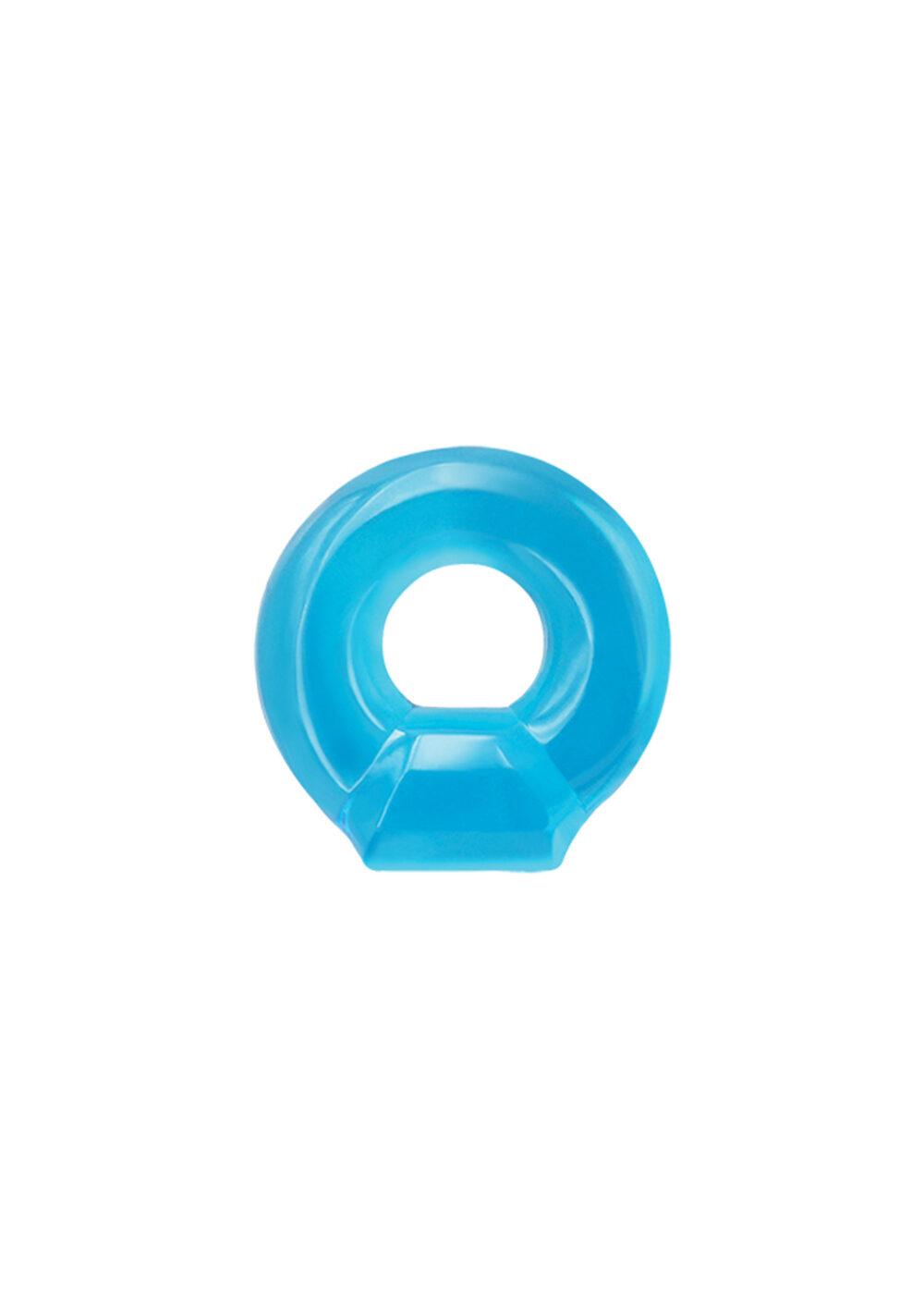 Renegade Drop Ring Blue - izrazito rastezljivi penis prsten za jačanje erekcije, TPE