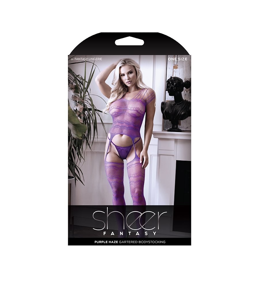 Sheer Fantasy Purple Haze Catsuit