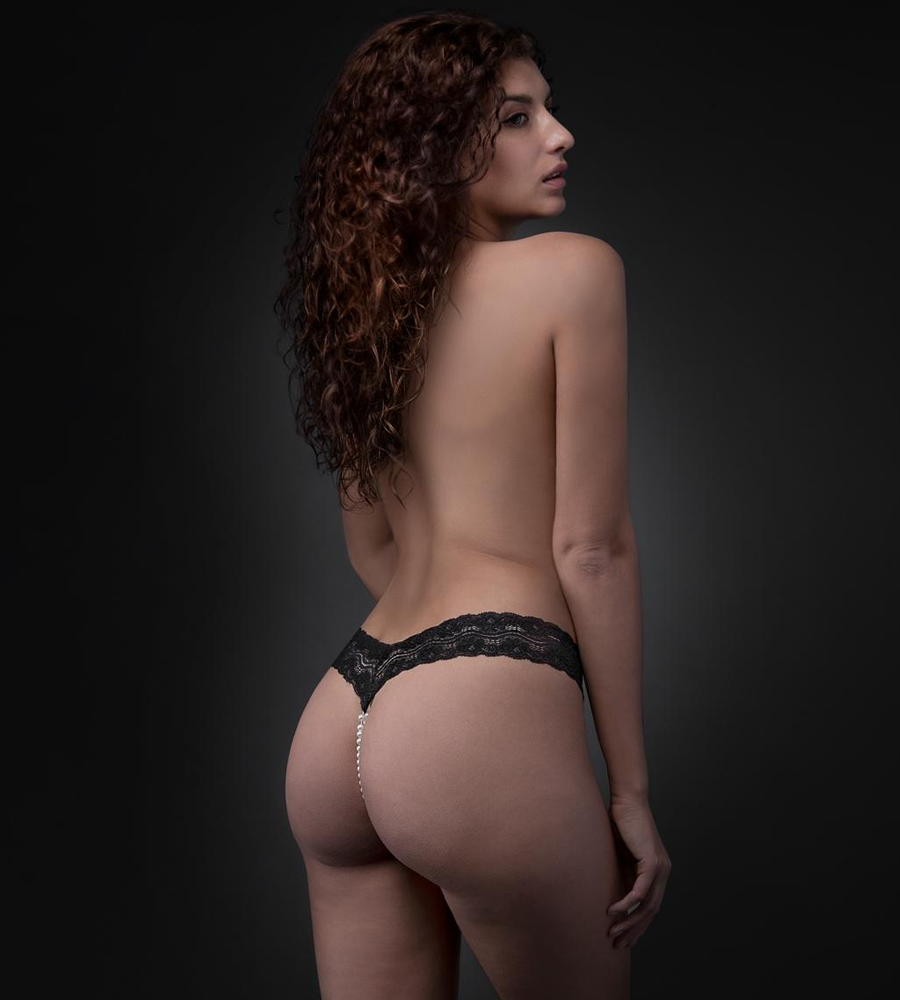 Underneath - Crotchless Mira G-string With Pearl Chain