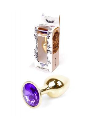 Exclusivity Jewellery Gold/Purple - analni plug, 7 cm