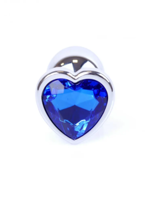 Exclusivity Jewellery Heart Silver/Blue - analni plug, 7 cm