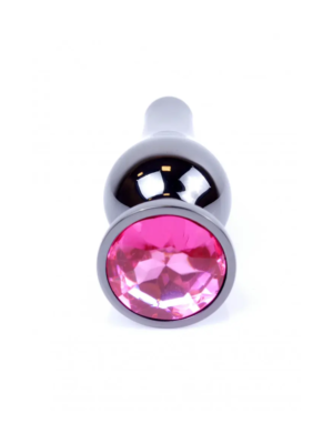 Exclusivity Jewellery Long Graphite/Pink - analni plug, 9 cm