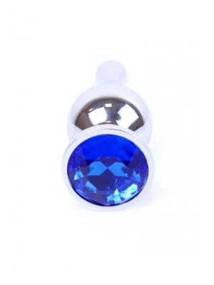Exclusivity Jewellery Long Silver/Blue - analni plug, 9 cm