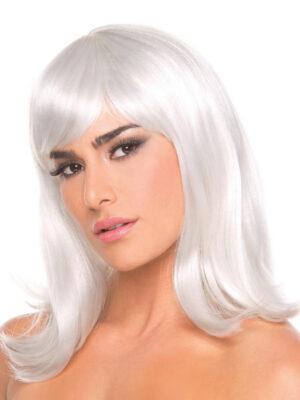 Bewicked Doll Wig White - bijela perika sa šiškama