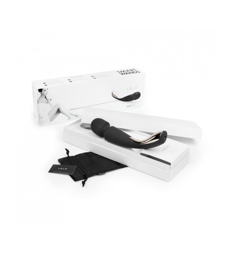 Lelo Smart Wand Medium Black - luksuzan masažer