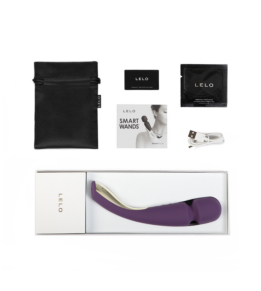 Lelo Smart Wand Medium Plum - luksuzan masažer