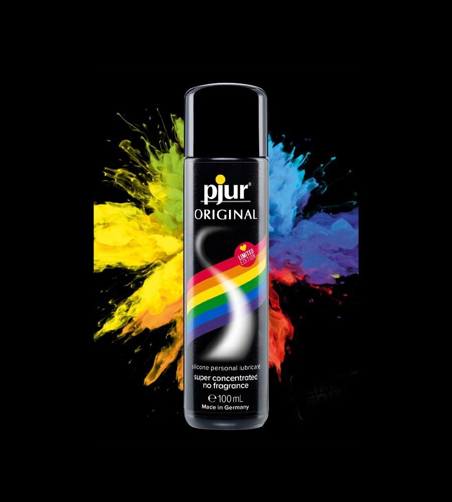 Pjur Med Original Glide Rainbow LE - silikonski lubrikant, 100 ml