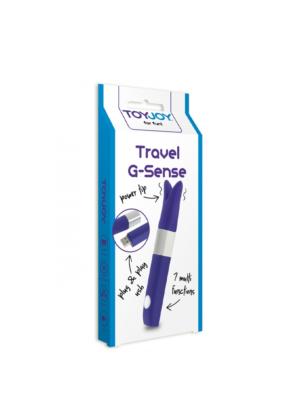 TOYJOY Travel G-Sense - silikonski mini vibrator, 11 cm