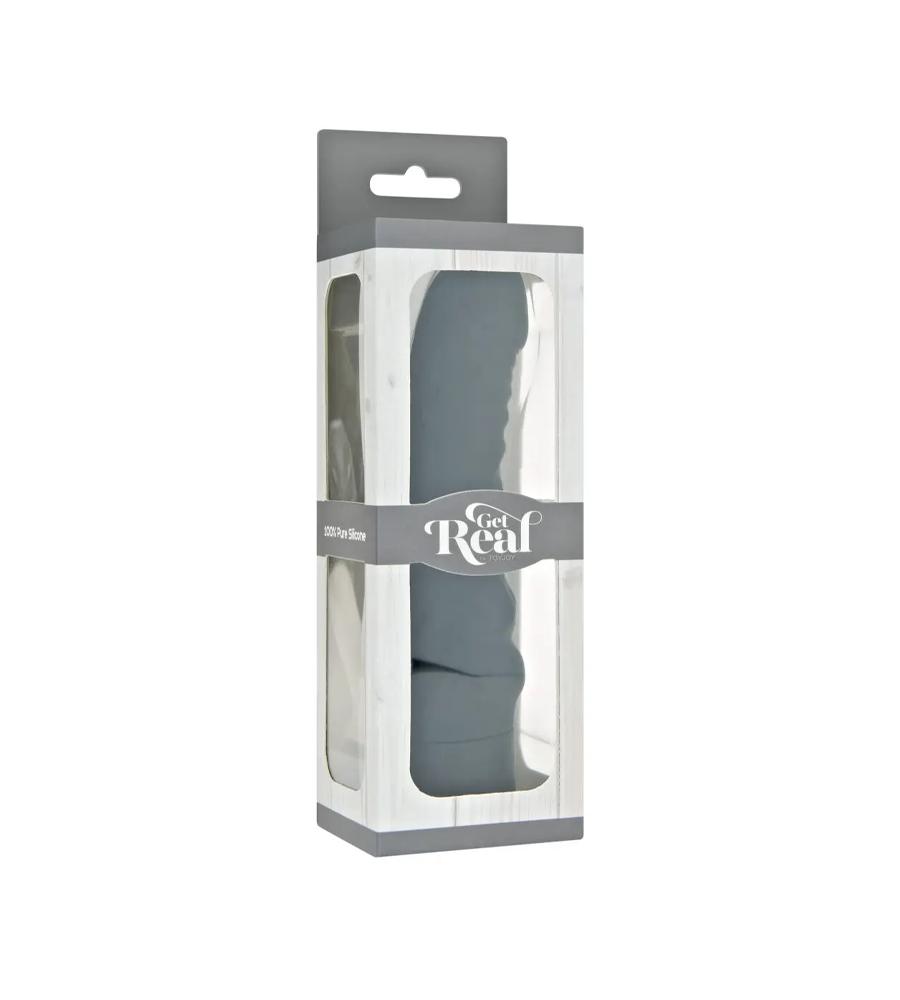 Get Real Mini G-Spot Black- silikonski vibrator, 18.2 cm