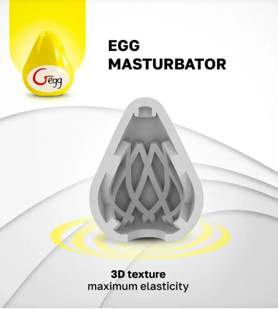 Gvibe G-Egg Masturbator - masturbator, žuti