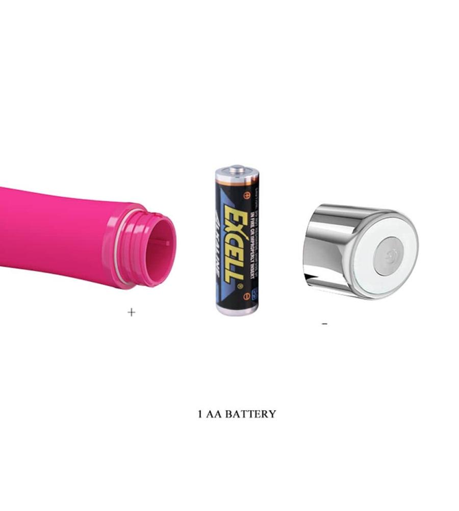 Pretty Love Sampson Pink - silikonski vibrator, 12,4 cm