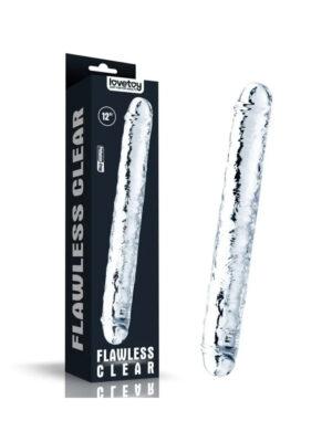 12'' Flawless Clear Double - dvostruki dildo, 30 cm