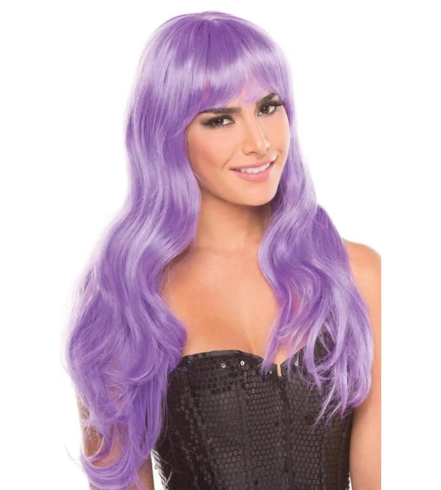 Bewicked Burlesque Wig Purple - ljubičasta perika sa šiškama