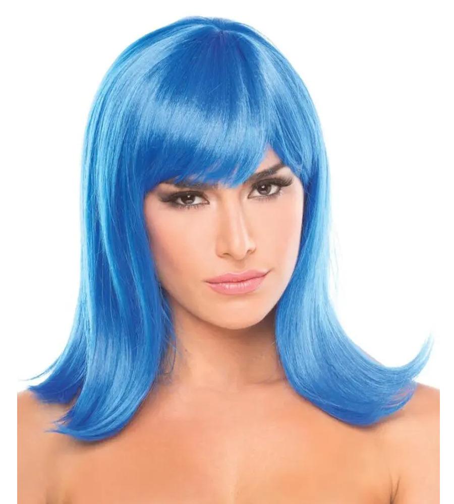 Bewicked Doll Wig Blue - plava perika sa šiškama