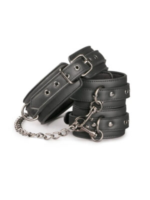 Easytoys Leather Collar With Anklecuff - ovratnik s lisicama za gležnjeve