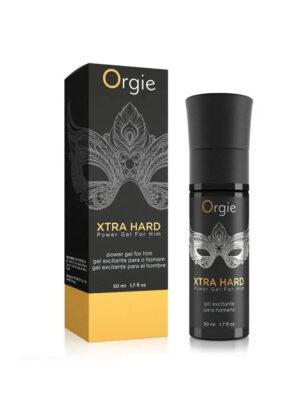 Orgie Xtra Hard - stimulativni gel za muškarce, 50 ml