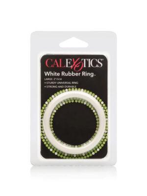 Rubber Ring Large White - gumeni penis prsten