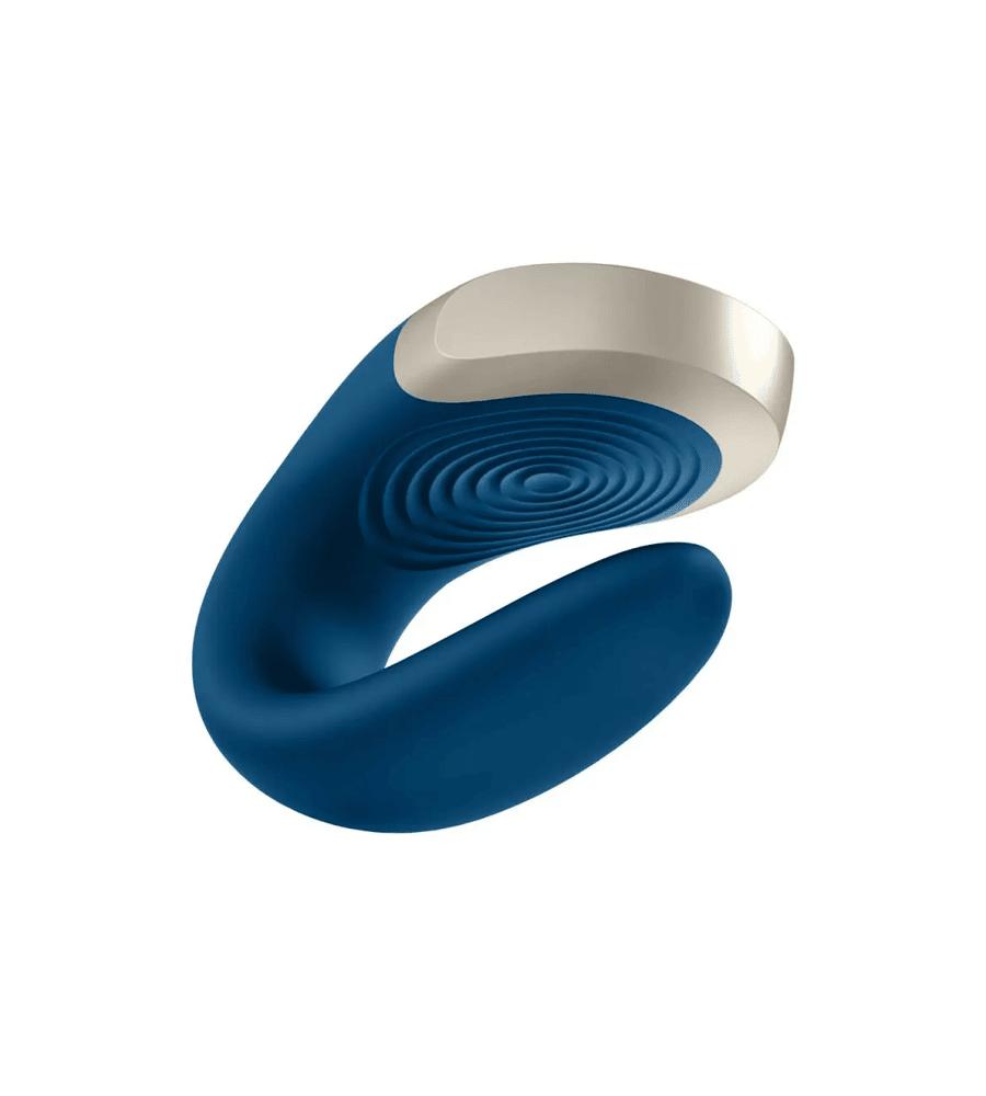 Satisfyer Double Love Blue - vibrirajući masažer za parove