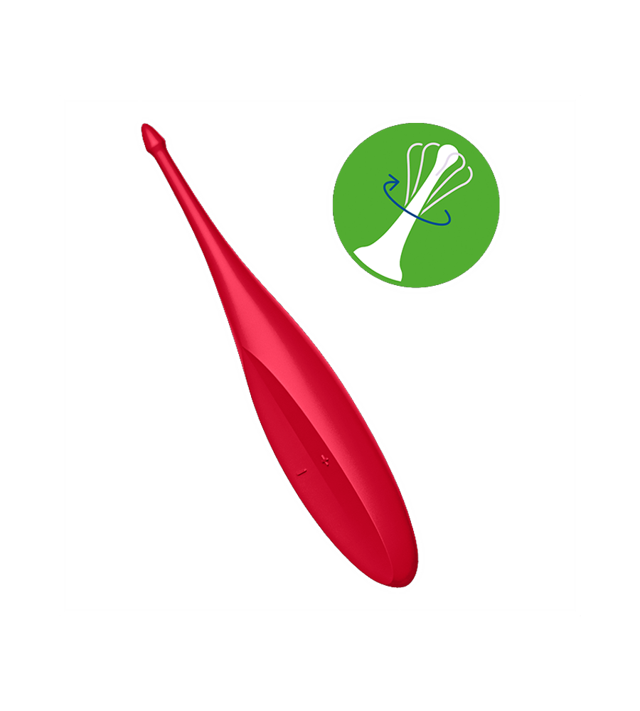 Satisfyer Twirling Fun Red - precizni masažer