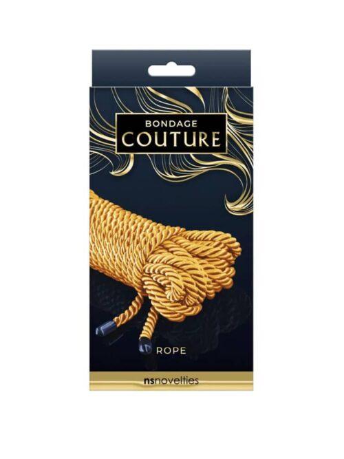 Bondage Couture Rope Gold - uže za vezanje, 7.5 m