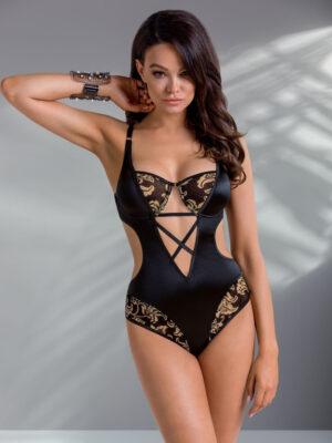 Casmir Victoria Body - crni body s prorezima