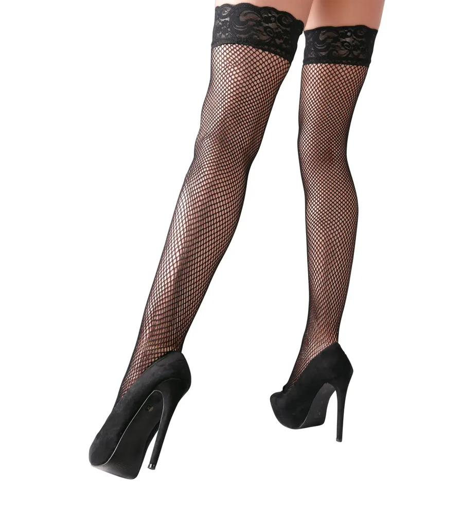 Cottelli Collection Hold-up Stockings - samostojeće mrežaste čarape