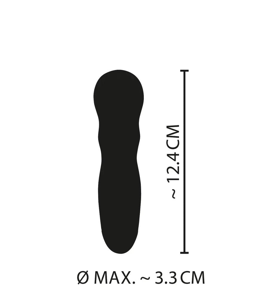 Cuties Mini Pink Vibrator - silikonski mini vibrator, 12,4 cm