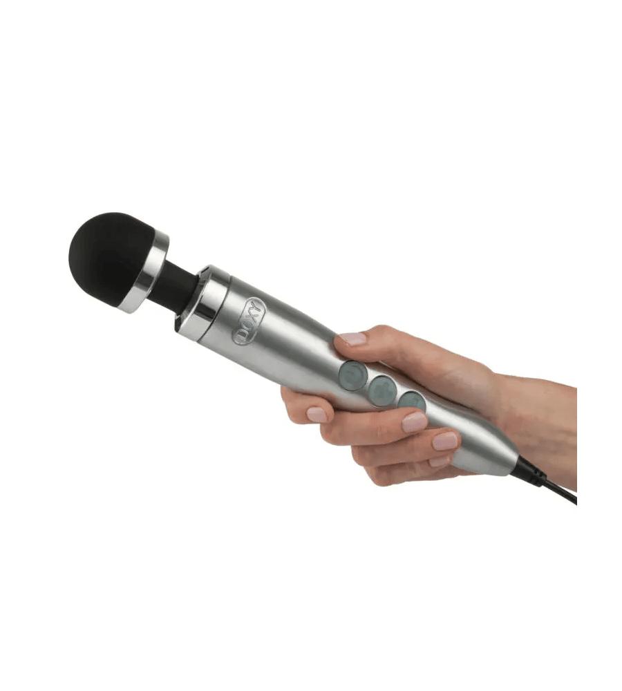 Doxy Die Cast 3R Silver- masažer, 28 cm