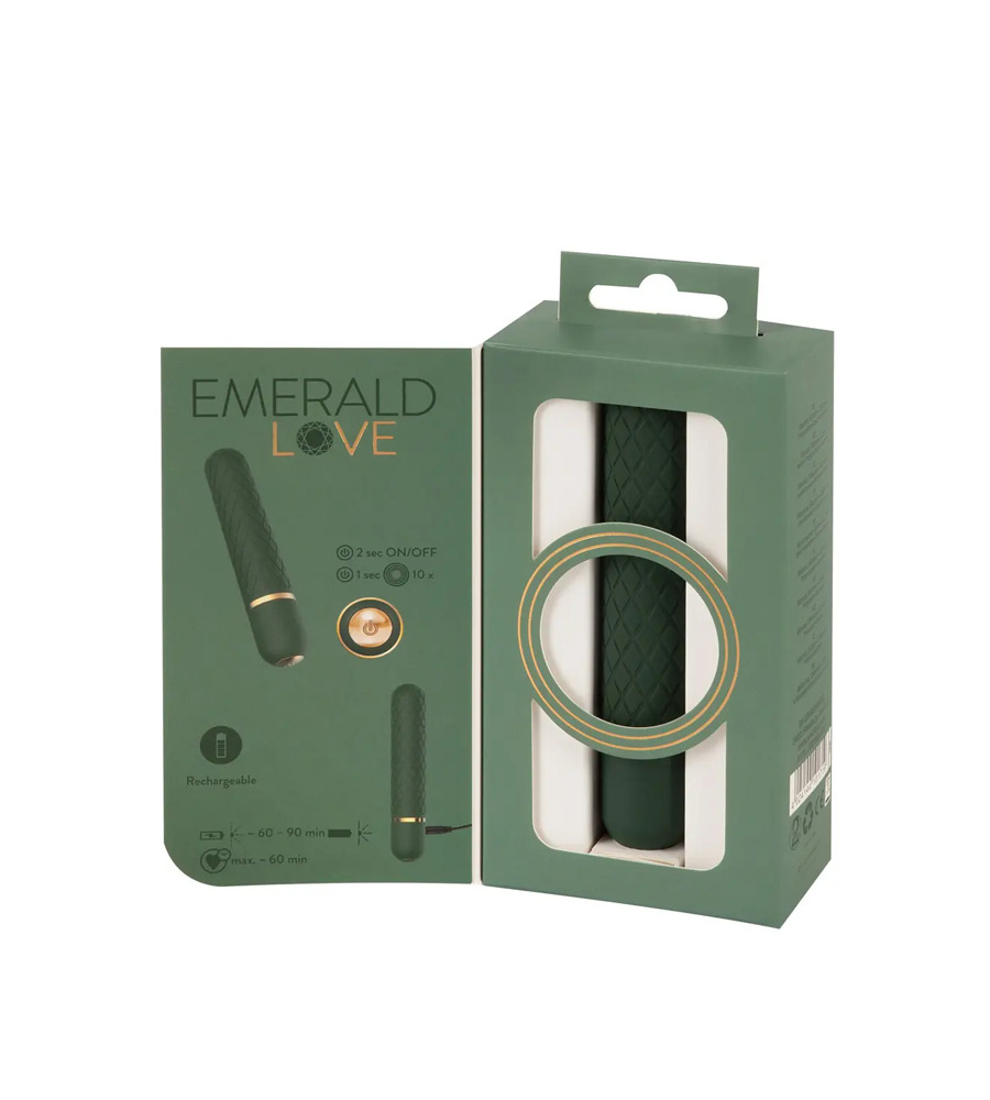 Emerald Love Bullet - luksuzni masažer, 12,6 cm