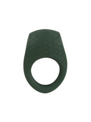 Emerald Love Cock Ring - vibrirajući penis prsten, 6,5 cm