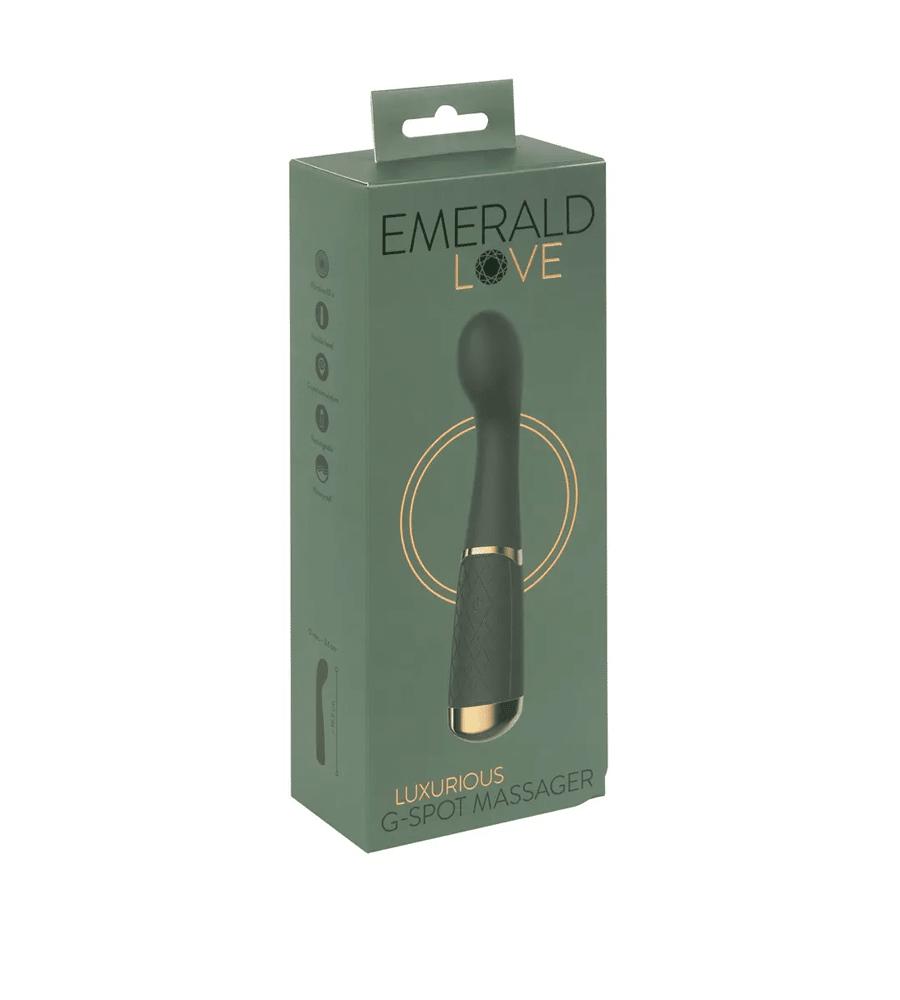 Emerald Love G-Spot - luksuzni masažer, 19,5 cm