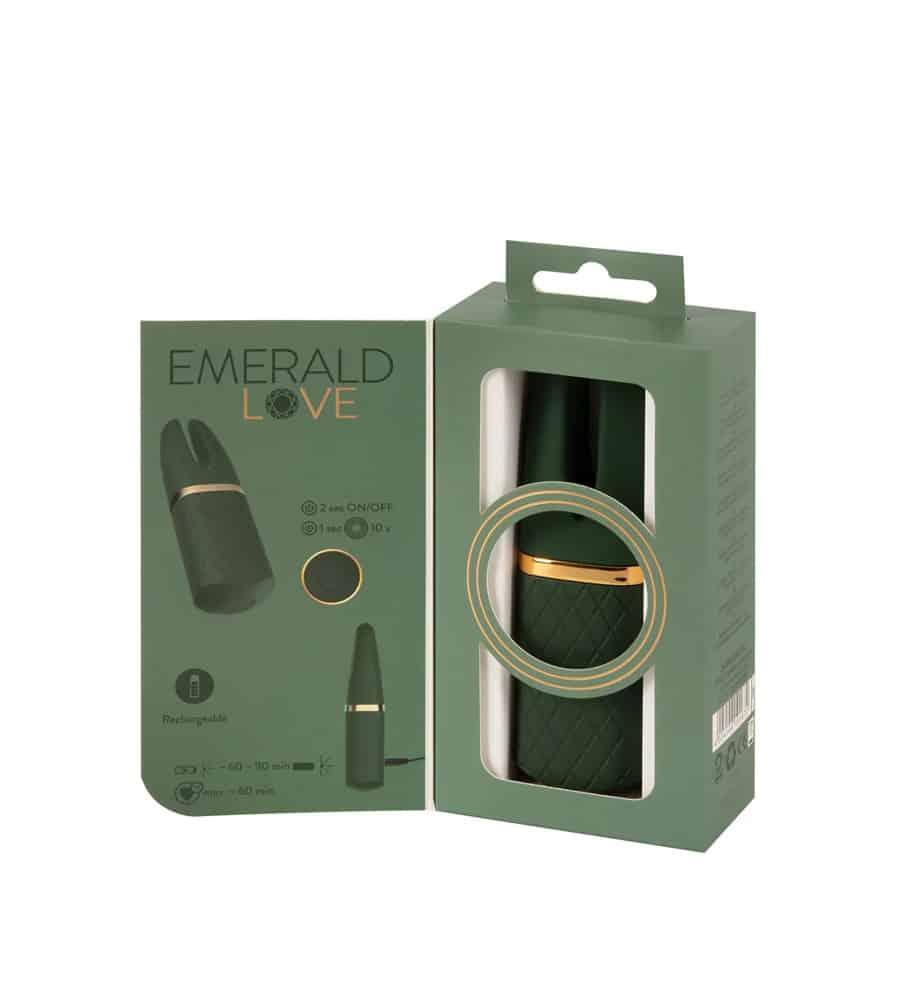 Emerald Love Split Tip - luksuzni masažer, 13,1 cm
