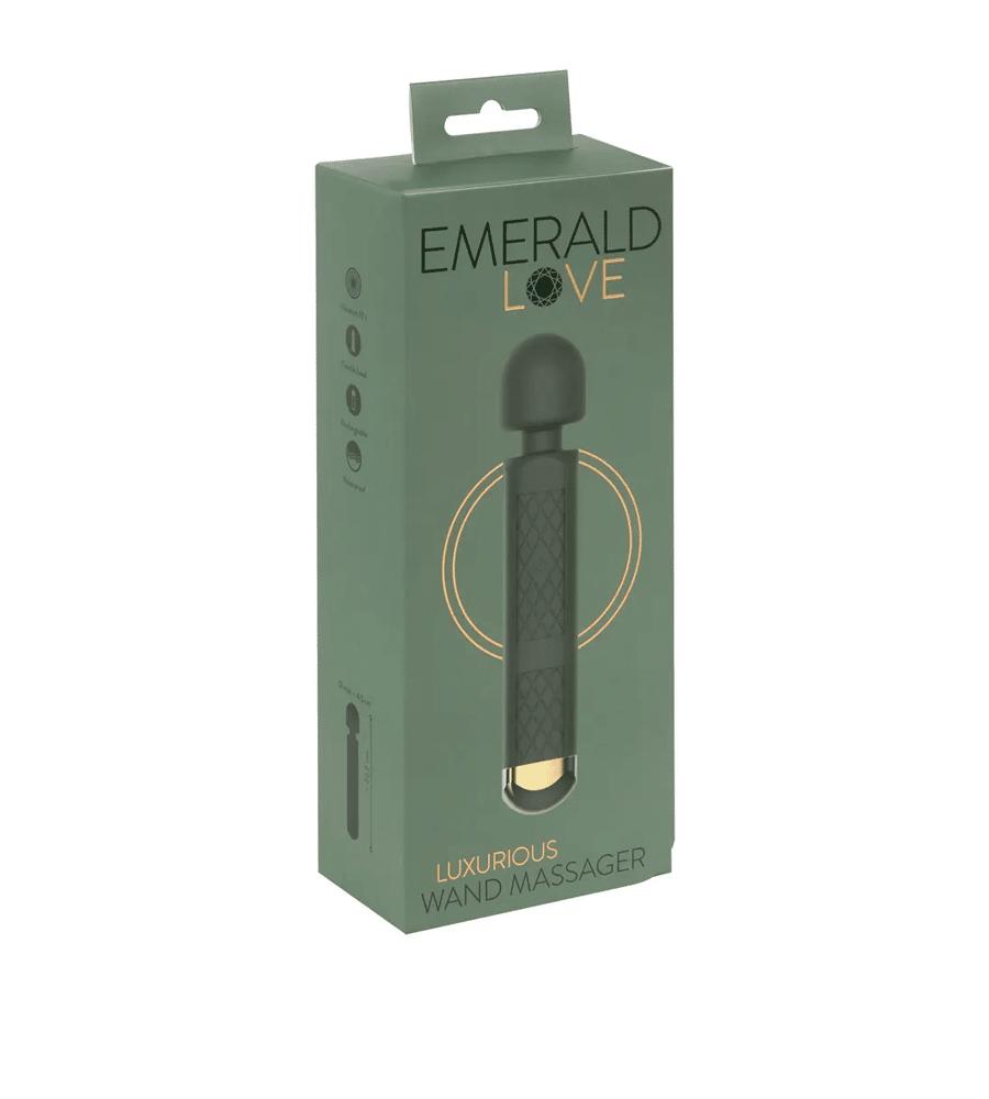 Emerald Love Wand - luksuzni masažer, 22,2 cm