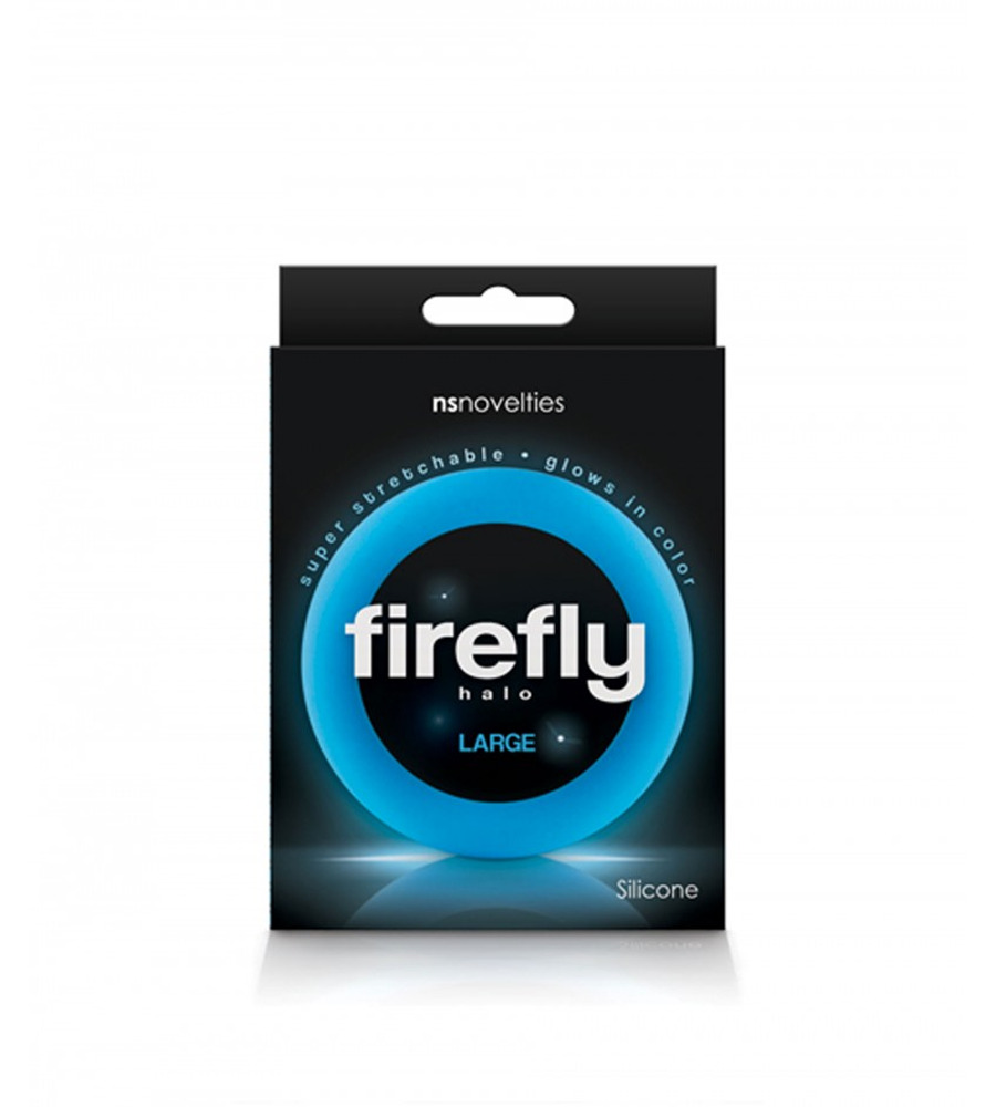 Firefly Halo Cockring Large Blue - penis prsten