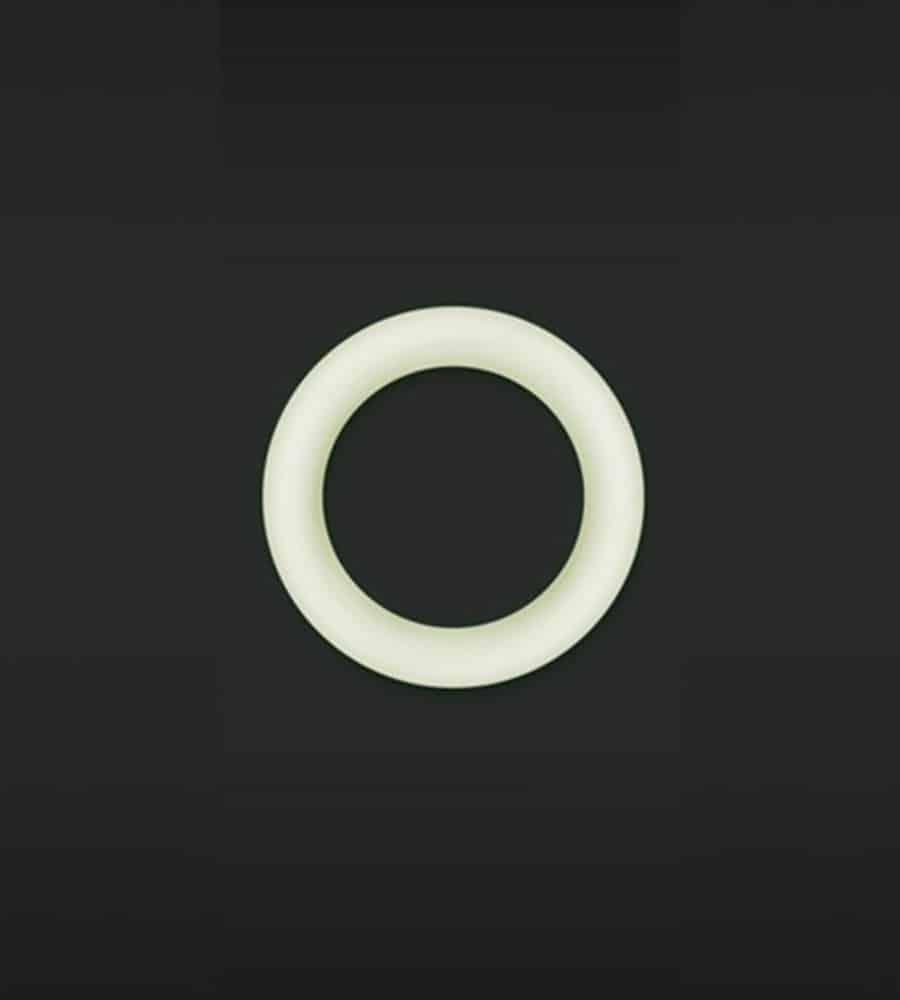 Firefly Halo Cockring Medium White - penis prsten