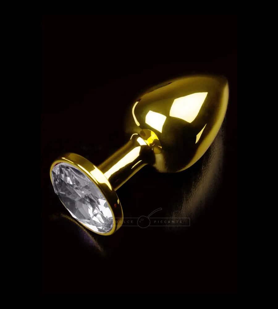 Jewellery Large Gold Silver - čelični analni plug, 9 cm