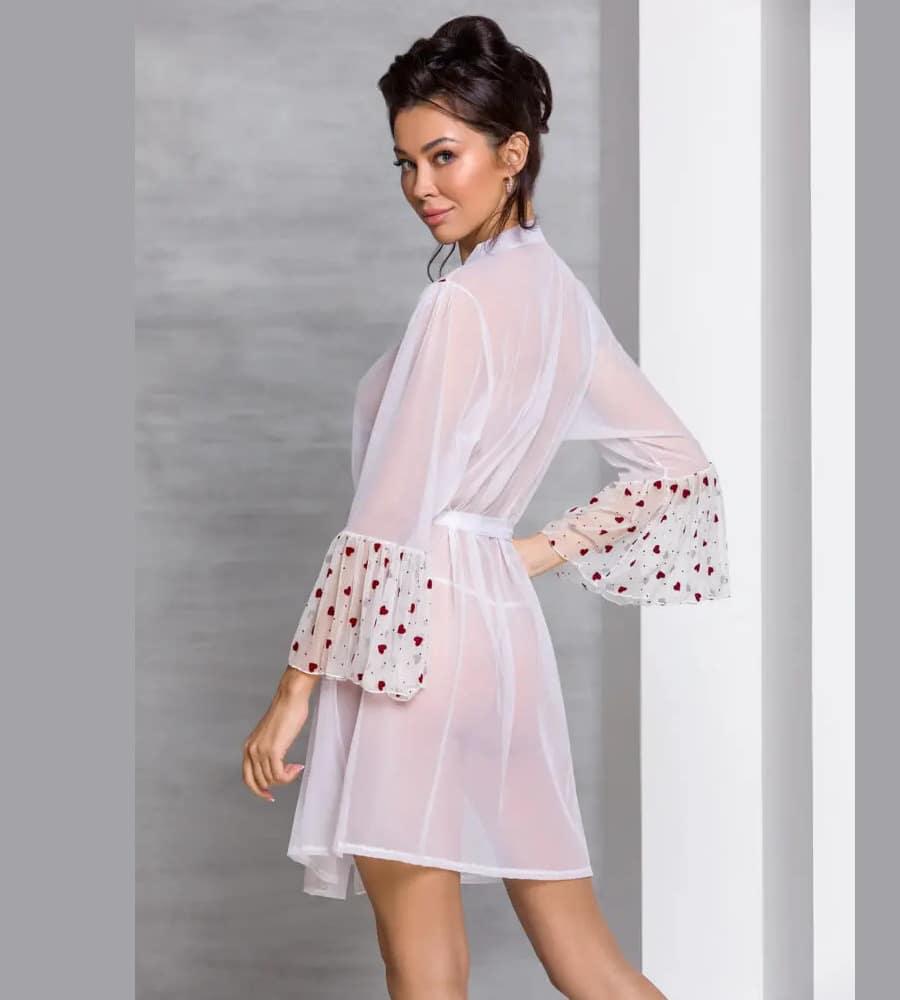 Passion Lovelia Kimono White - providni ogrtač