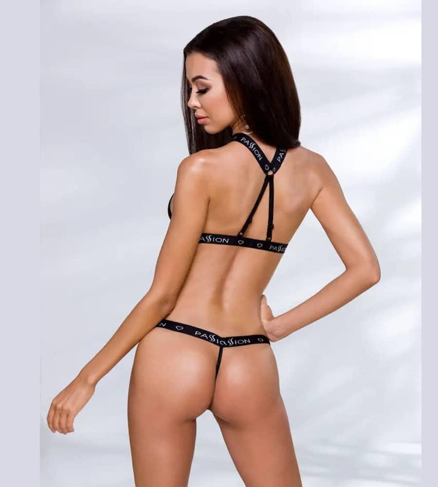 Passion Mirajane Body Black - čipkasti body