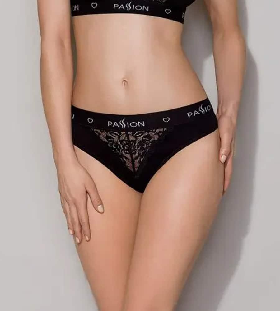 Passion PS001 Panties Black - sportske gaćice