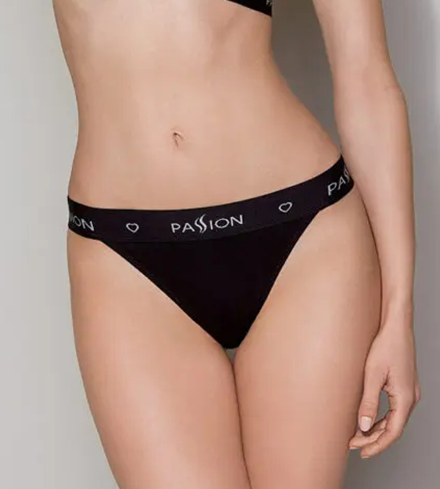 Passion PS015 Panties Black - sportske gaćice