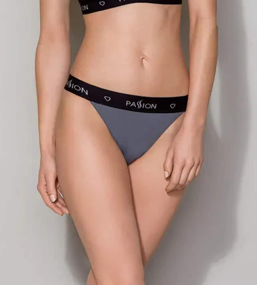 Passion PS015 Panties Grey - sportske gaćice